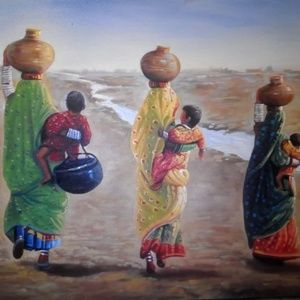 Pakistani cultural painting on canvas